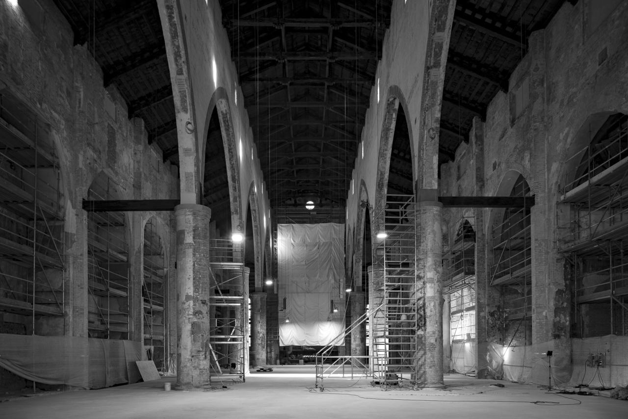 Chiesa di S.Francesco del Prato, durante i lavori di recupero del 2020 - © davidegrossi - davidegrossi.it